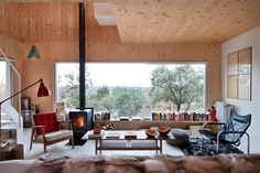 garciagerman arquitectos: ex house, spain - view of the landscape from the interior living area