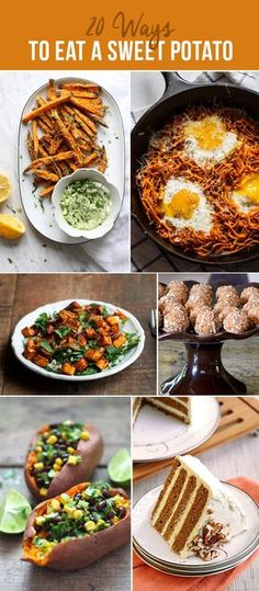 The best sweet potato recipes out there including lunch, dinner and breakfast options- Even dessert! Vegetarian, vegan and gluten free ones too!