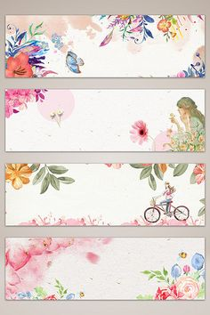 Watercolor style floral romantic banner poster background#pikbest Flower Backgrounds, Flower Wallpaper, Wallpaper Backgrounds, Creative Bookmarks, Diy Bookmarks, Journal Stickers, Planner Stickers, Flower Graphic Design, Diy And Crafts