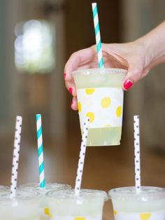 DIY Printable Paper Cup Sleeves for Lemonade Stands