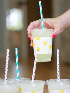 DIY Printable Paper Cup Sleeves for Lemonade Stands
