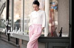 Garance Dore, beautiful as always.  I love the pants, would love to know the label.