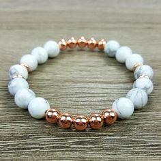 Howlite & Rose Gold bracelet