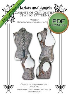 download sewing patterns, Steampunk corsets, vintage and Victorian hat patterns - Harlots and Angels