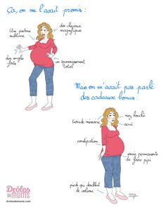 La grossesse c'est comme un iceberg : il y a la partie visible, celle que tout le monde voit, et ce qu'on peut appeler la partie immergée, celle dont personne ne parle. Le Printemps arrive, c'est la fonte des glaces : on te montre tout ! (On plaisante, hein... Parfois c'est pire :-D) Pregnancy Jokes, Pregnancy Photos, I'm Pregnant, Mom And Baby, Im Not Perfect, Funny Quotes, Maternity, Lol, Family Guy