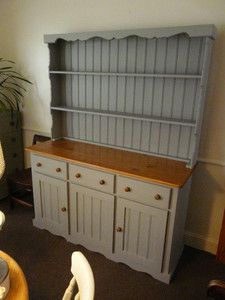 Large shabby chic country farmhouse pine welsh dresser