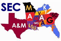 SEC Football Map