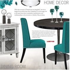 Dining Room by pokadoll on Polyvore featuring polyvore, interior, interiors, interior design, home, home decor, interior decorating, Possini Euro Design, NARS Cosmetics and dining room