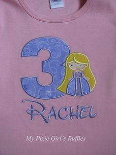 Monogrammed Inspired by Rapunzel Birthday by MyPixieGirlsRuffles, $22.00