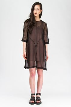 Wixii LOVER TUNIC DRESS - BLACK NZD $200.00