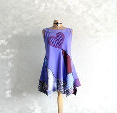 Women's Purple Shirt Heart Applique by BrokenGhostClothing on Etsy