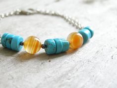 Free shipping Casual bracelet carnelian and mint by gembracelet, $20.00