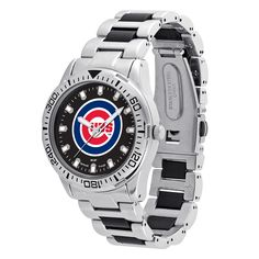 Game Time Chicago Cubs MLB Heavy Hitter Men's Watch