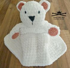 Nanuk the Polar Bear Lovey Crochet pattern by Keep Calm and Crochet On UKfree crochet pattern for blanket loveysWhat comes first, the yarn or the crochet? What an interesting question and I have to say with me it's definitely a bit of both. Bernat Baby Blanket, Lovey Blanket, Blanket Yarn, Baby Blanket Crochet, Baby Blankets, Crochet Security Blanket, Crochet Blanket Patterns, Baby Patterns, Knitting Patterns