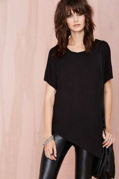 Nasty Gal Playing Favorites Tee - Black - Tops