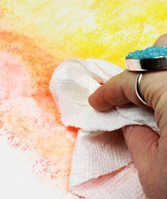 Chalk pastels alone are a really fun supply but when you mix pastels with water you are able to use them in a totally different way! While you cannot turn pastels into paint, they are actually water s Chalk Pastel Art, Chalk Pastels, Dry Pastels, Watercolor Tips, Pastel Watercolor, Watercolor Pencils, Watercolor Techniques, Encaustic Painting, Diy Painting