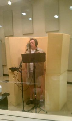 Our fancy foam booth! David Kauffman - A Hand To Hold #recording #studio