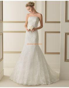 Schöne trägerlose Meerjungfrau Hochzeitskleider aus Spitze 168 ETERNO | luna novias 2014