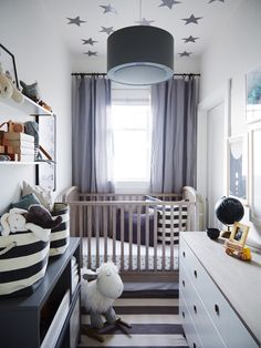 Sophisticated Nursery Closet Crystal Palecek Design Small Baby E Rooms