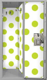 Locker Lookz Black and White Key Scroll Wallpaper- NO ADHESIVE uses magnets to attach!!!
