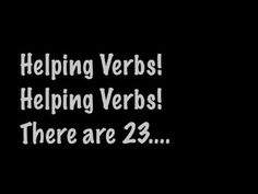 Helping Verbs Song C1 W14, W15, W16, W17, W18, W19, W20 English (Jingle Bells)