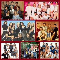 Various melrose place cast shots. (i made this collage, bjd).