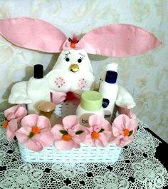 Tavşan sepet aksesuar banyo ürünleri