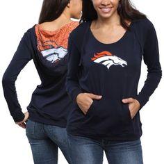 Denver Broncos Women's Blue Sublime Knit Hoodie