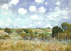 Alfred Sisley(French, 1839-1899) / Meadow, 1875, National Gallery of Art, Washington D.C.