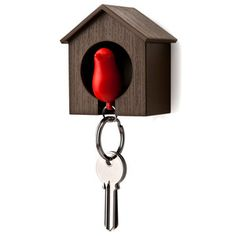 Sparrow Key Holder Brown Red