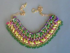 Braided necklace multicolores, totalemente primaveral!