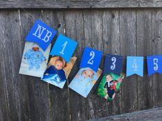 12 month photo banner 1st birthday photo banner first by TinCakes