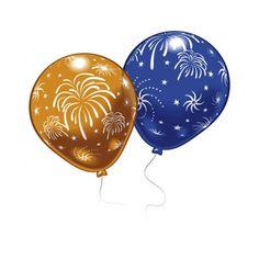 Oud en Nieuw ballonnen 8 stuks. Diverse gekleurde ballonnen met daarop vuurwerk afgebeeld. Super leuk voor uw Oud en Nieuw feestje. De ballonnen zijn opgeblazen ongeveer 27 cm groot.