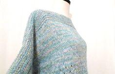 Vintage Pastel Handmade Sweater/ XL Winter Colors by BibbysRocket
