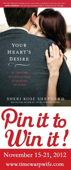 You Could Win One of 10 Copies! Your Heart's Desire Book Giveaway at Time-Warp Wife. November 16-21, 2012