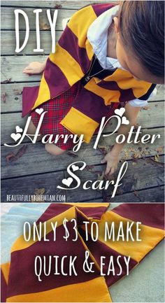 DIY Harry Potter Scarf!!