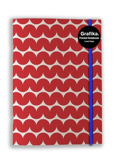 Grafika Red/White Wave A5 Notebook