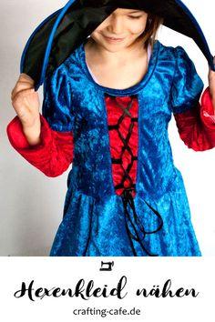 Hexenkleid nähen, Kinderkostüm nähen, Kostüm Hexe, Kleid nähen, #nähen #nähenmachtglücklich
