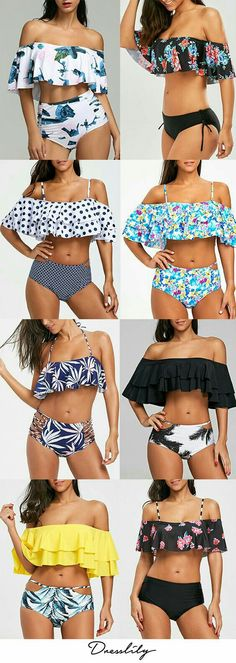 Buy New Swimwear,Shop the Latest Womens Bathing Suits, Swimsuits, & Bikinis Summer Bathing Suits, Cute Bathing Suits, Women Bathing Suits, Bathing Suits For Teens, Mode Outfits, Sport Outfits, Fashion Outfits, Flounce Bikini, Bikini Swimwear