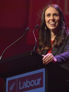 Prime Minister Jacinda Ardern addresses the Labour Party Conference in Dunedin. Photo: Gerard O. Labour Party, Fight For Us, Prime Minister, Special Needs, Enemies, Dream Life, Happy Life, Wonders Of The World, New Zealand