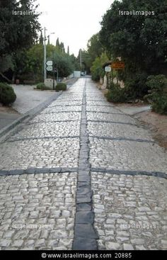 An old stone paved road in Rosh Pina, Upper Galilee
