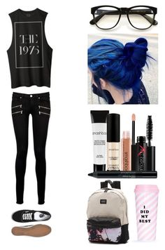 """""""back to school tag"""" by pizzzzzaaaaaaaa ❤ liked on Polyvore featuring Wildfox, Vans, Smashbox, Paige Denim and ban.do"""