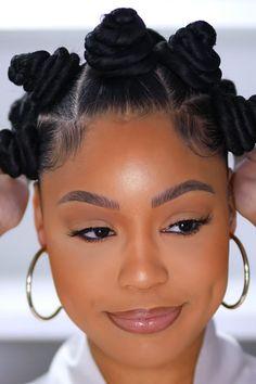 Natural Hair Braids, Braids For Black Hair, Black Hairstyle, Bantu Knot Hairstyles, African Braids Hairstyles, Bantu Knots, Bantu Knot Styles, Twisted Hair, Hair Knot