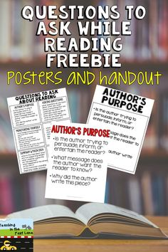 Do your students' families ask how they can help their students with reading? This one-page handout is sure to help! Now with a poster set too to encourage your students to think while they read and assist with reader's response entries!