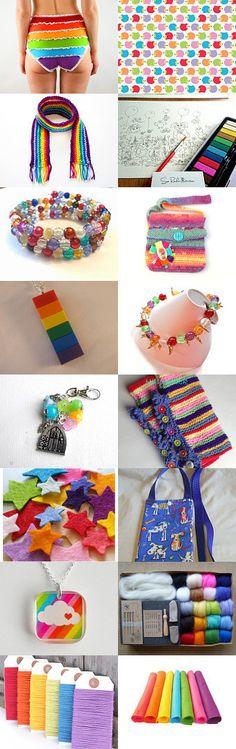 Rainbow Colour Love! by Lisa Hutchens on Etsy--Pinned with TreasuryPin.com