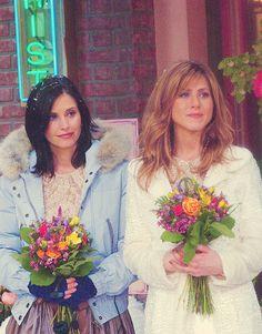 Phoebe's bridesmaids; Monica & Rachel