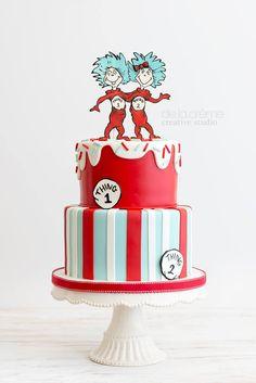 De la Creme Studio Dr Suess Cakes, Think Thin, Take The Cake, Creative Studio, Let Them Eat Cake, Creme, Birthdays, Desserts, Inspiration