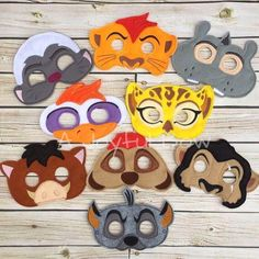Lion kids inspired dress up and birthday party favor masks, Lion Halloween, Lion Birthday 5th Birthday Party Ideas, Safari Birthday Party, Birthday Party Favors, 3rd Birthday, Lion Halloween, Lion King Costume, Lion King Party, Lion King Birthday, Boy Room