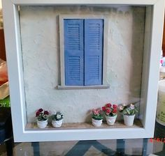 Miniature room ♡ ♡ By My little escape Miniature room ♡ ♡ By My little escape Vitrine Miniature, Miniature Rooms, Miniature Houses, Diy Home Crafts, Diy Arts And Crafts, Paper Crafts, Shadow Box Art, Shadow Box Frames, Box Frame Art