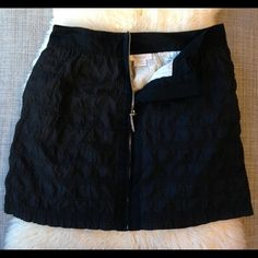 Richard Chai Front Zipper Windowpane Skirt Richard Chai for Target Black Polyester Skirt (Size 1). 49% Polyester, 46% Cotton, 5% Nylon. Great condition! Front zipper and side slit pockets, white cotton lining, textured material is intermittently woven. Richard Chai Skirts